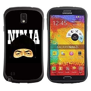 Hybrid Anti-Shock Bumper Case for Samsung Galaxy Note 3 / Cool Stealth Ninja