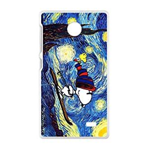 Van gogh starry night paintings snoopy Cell Phone Case for Nokia Lumia X