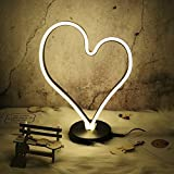 Neon Light Sign LED Heart Shaped Night Light Wall Decor Light Operated By plug With Warm Yellow Light for Birthday party,Kids Room, Living Room, Wedding Party Decor