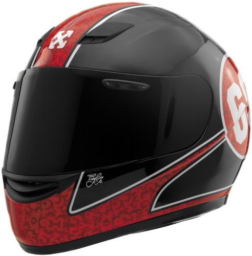 Sparx S-07 Special Edition Lucky 69 Helmet , Distinct Name: Lucky 69, Primary Color: Red, Helmet Type: Full-face Helmets, Helmet Category: Street, Size: XS, Gender: Mens/Unisex 842760