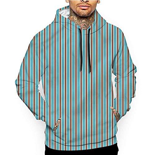 Hoodies SweatshirtMen 3D Print Geometric,Santa Hat Pattern,Sweatshirts for Teens ()