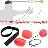 Training Boxing,Sundlight Boxing Reflex Ball Training with Headband Boxing Punch Ball Fitness Training Reactions and Speed Sports for Boxing and Other Combat