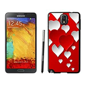 NEW DIY Unique Designed Samsung Galaxy Note 3 Phone Case For Red and White Love Hearts Phone Case Cover
