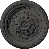 Ekena Millwork CM11PASGS 11-1/2'' x 1'' Palmetto Ceiling Medallion, Steel Gray