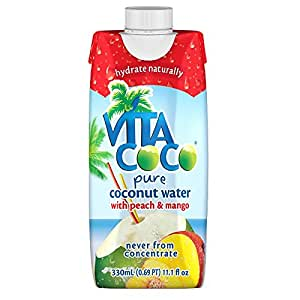 Vita Coco Coconut Water, Peach and Mango, 11.1 Ounce (Pack of 12)