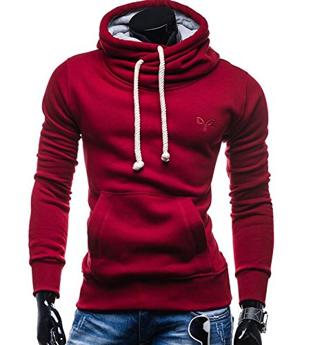 Wall of Dragon Autumn Fashion Brand Pullover Solid Color Turtle neck Sportswear Sweatshirt Men'S Track - Armani Jeans Suits