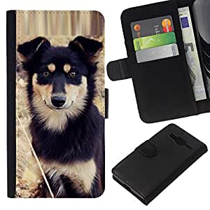 Stuss Case / Funda Carcasa PU de Cuero - Alaskan Malamute Mastiff Puppy Dog - Samsung Galaxy Core Prime