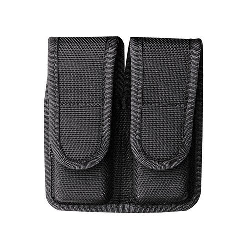 Bianchi Accumold 7302 Black Double Magazine Pouch (Size 4 Glock 20 Hidden Snap)
