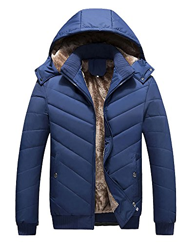 Jacket Parka Blue Men Padded Down Jacket Warm Lightweight Coat wnpWHqO6