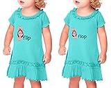 Cute Rascals Born First Show Off Style 2 Sunflower Short Sleeve Dress Twin Set Caribbean Blue 12 Months