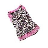 Pet Shirt, Howstar Cute Leopard Summer Pet Puppy Dress Small Dog Cat Pet Clothes (M)