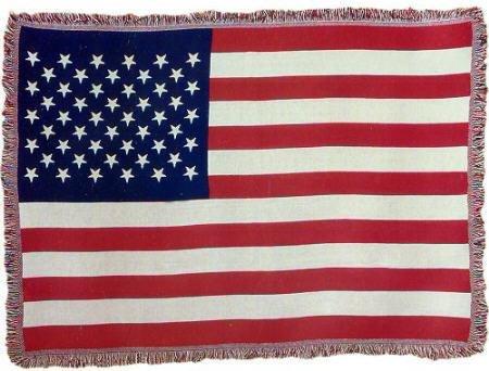 - Zeckos American Flag Woven Jacquard Throw Blanket Afghan