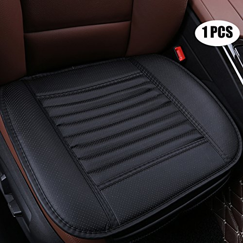 2PCS Black-N 19.7 inches deep /× 20.87 wide EDEALYN PU leather Car seat cover Car Accessories Car Seat Protector Seat Covers Universal Car