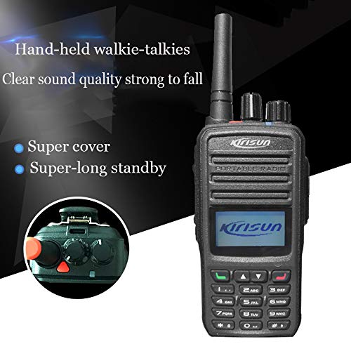 LDJC Walkie Talkie, Portable Walkie-Talkie Waterproof High Power DC 3.7V Rated Handheld Walkie Talkie Card Plug in USB Function