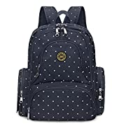 S-ZONE Upgraded Version Water-resistant Baby Diaper Bag Smart Organizer Backpack with Changing Pad & Stroller Clips 7 Varieties Available