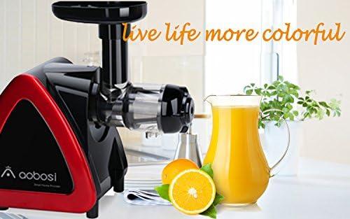 AOBOSI extracteur de jus /à rotation lente le pressoir de jus qui tourne lentement pour conserver au mieux les nutriments Lextracteur de jus des fruits et l/égumes avec brosse de nettoyage