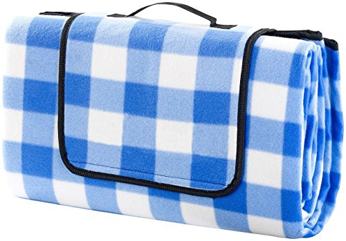 Monstar XXX-Large 69x79 Inch Outdoor Blanket - Water Proof Backing Picnic Rug - Easy To Fold And Portable Beach