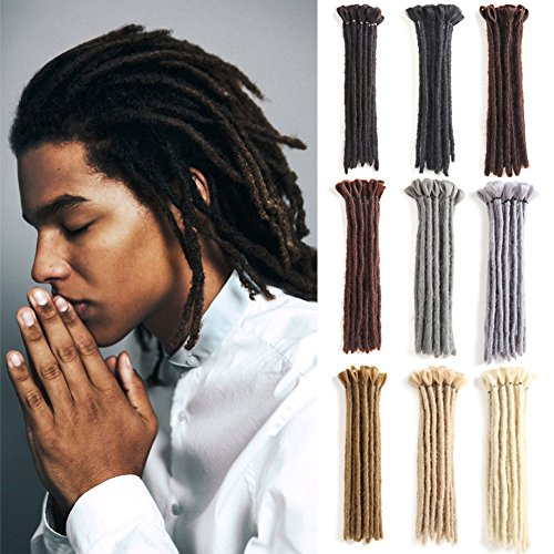 Handmade Dreadlocks Extensions Black 12 inch Fashion Reggae Hair Hip-Hop Style 10 Strands/Pack Synthetic Braiding Hair From Maya Culture For Men (M1) -