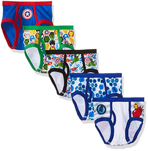 Marvel Big Boys Avengers 5 Pack Underwear, Assorted, 6