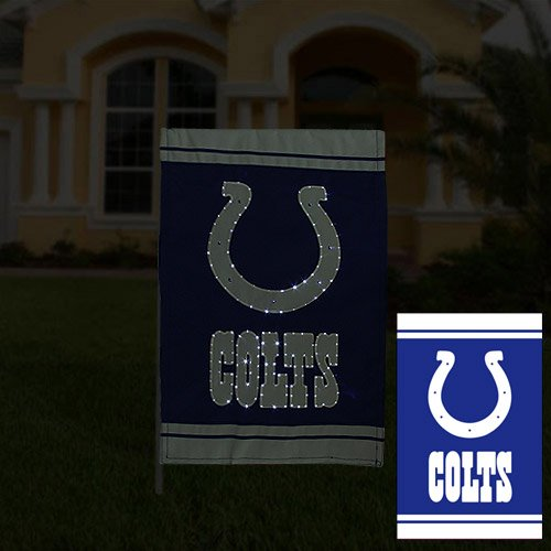 NFL Indianapolis Colts 12.5'' x 18'' Fiber Optic Two-Sided Garden Flag - Royal Blue/White