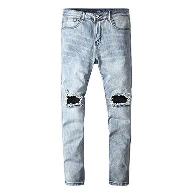 Targogo Pantalones Vaqueros De Los Hombres Pantalones De ...