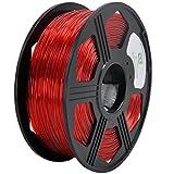 YOYI 3D PETG Filament 1.75mm PETG 3D Printer Filament 1KG Diameter Tolerance +/- 0.05 mm, 1 KG Spool, 1.75 mm PETG (Red)