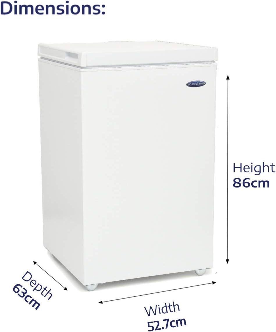 Energy IceKing CF97W Large Chest Freezer in White97L CapacityA