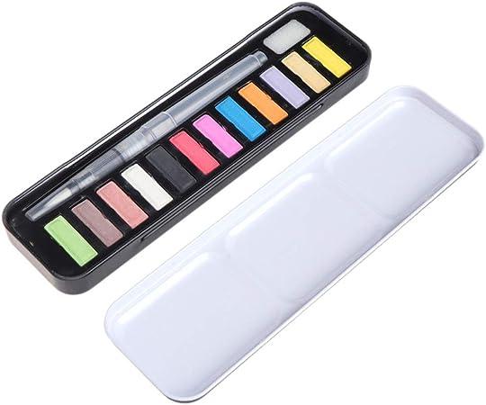 MZY1188 12/18/24 Colores Conjunto de Pintura de Acuarela sólida portátil, Pintura al óleo Kit de pigmentos de Color de Agua con Pincel Suministros de Arte para Principiantes: Amazon.es: Hogar