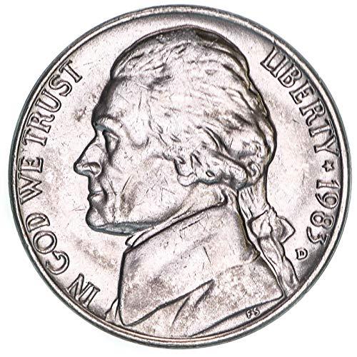 1983 D Jefferson Nickel Brilliant Uncirculated