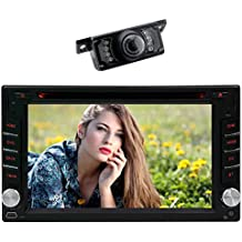 """Latest Double 2 Din Car stereo Headunit with 2GB 32 GB WIFI Model Androi 7.1 Octa Core 6.2"""" Universal DVD CD Player, Support GPS Navigation, Bluetooth, FM,AM, OBD DBa,Mirror Link.Free Camera"""