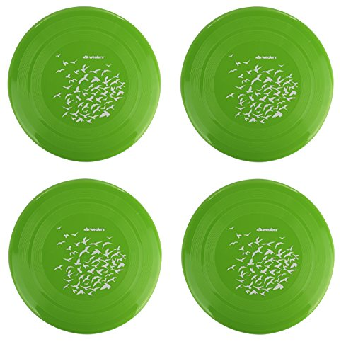 Fun Frisbee (4 Pack Flying Frisbee Discs Family Fun Group Game Variety of Colors Durable 8.7 Inch Frisbey Disk (Green))