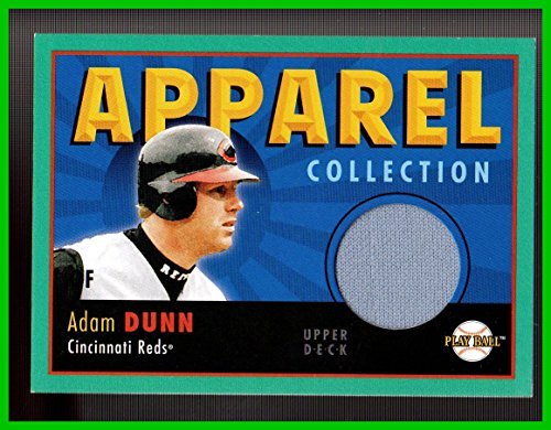 2004 Upper Deck Play Ball Apparel Collection #AD Adam Dunn GAME USED JERSEY CINCINNATI REDS