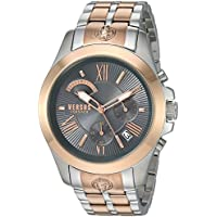 Versus by Versace Men's 'Chrono Lion Extension' Quartz Gold and Stainless Steel Watch, Color:Two Tone (Model: VSPBH1518)
