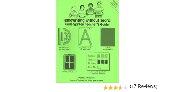 Amazon.com: Handwriting Without Tears: Kindergarten Teacher's ...