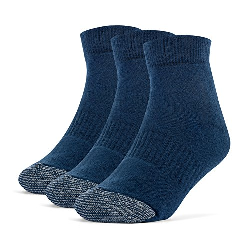 Galiva Girls' Cotton Extra Soft Ankle Cushion Socks - 3 Pairs, Medium, Navy Blue by Galiva (Image #1)