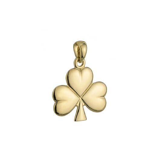 Amazon shamrock pendant only 14k yellow gold irish jewelry shamrock pendant only 14k yellow gold irish jewelry aloadofball Images
