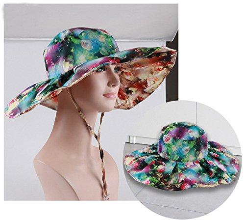 de Sombrero mujer de ancha protecci de Plegable Beach ala Ahatech Gorra 46qPw6d