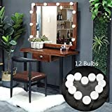 Commoda Hollywood Style DIY LED Vanity Mirror Lights Adjustable makeup mirror lights 12 Dimmable LED Light Bulbs Kit with Touch Dimmer and Power Supply Flexible Lighting Fixture Strip for Makeup Dress