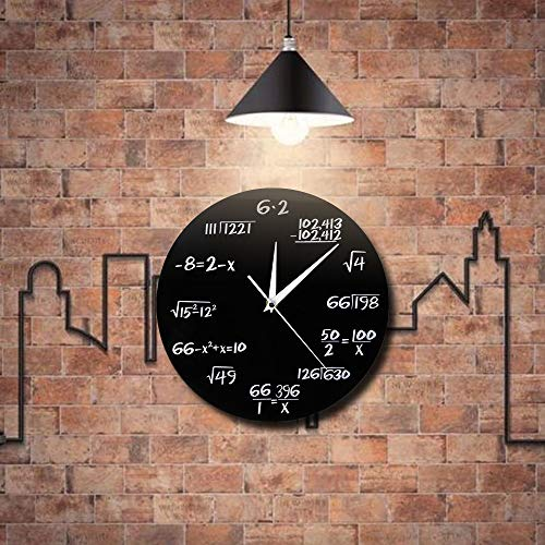 Kamas 1Piece Room Hanging Decorative 3D Wall Clock Pop Quiz Math 3D Wall Watches Saati Art