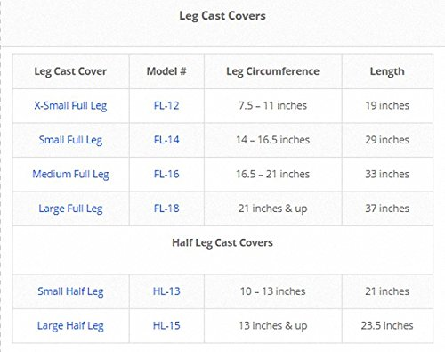 DryPro Waterproof Vacuum Sealed Half Leg Cast Cover, Large by DryCorp (Image #2)