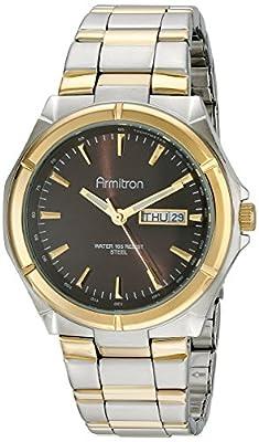 Armitron Men's 20/4686BNTT Brown Dial Two-Tone Bracelet Watch