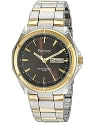 Armitron Mens 20/4686BNTT Brown Dial Two-Tone Bracelet Watch