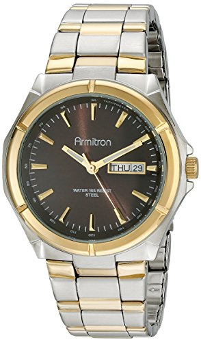 Armitron Men's 20/4686BNTT Brown Dial Two-Tone Bracelet W...