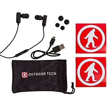Wireless Earbuds, Tags 2.0 by Outdoor Tech, Bluetooth Sweatproof In-Ear Headphones - Black