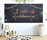 "Office Products : Chalkboard Contact Paper - 17.7"" x 78.7"" Large Chalkboard Sticker Wall Decal with 5 Bonus Colored Chalks. Self Adhesive Blackboard Sticker for Kids Room, Kitchen, Office. Black Chalk Vinyl Wallpaper"