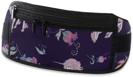 Stylized Ornamental Flowers Retro Running Lumbar Pack For Travel Outdoor Sports Walking Travel Waist Pack,travel Pocket With Adjustable Belt