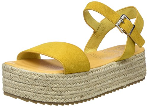 COOLWAY Damen Mini Plateausandalen, Gelb (MOS), 36 EU