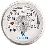 Trident Marine 690-1400 L.P. Gas Pressure Gauge, 300 PSI, MPT Stem