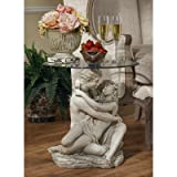 Design Toscano In the Arms of Romance End Table For Sale