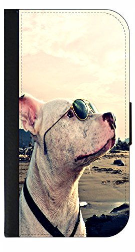 Pitbull Dog in Shades - Passport Protector Keeper Case Cover / Card Holder for - Shades Pitbull